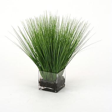 Distinctive Designs Waterlook Faux Grass in Rectangular Artificial Decorative Vase