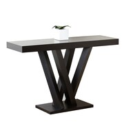 Abbyson Living Kinlin Espresso Wood Sofa Table