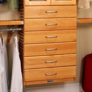 John Louis Home 16'' x 6'' Drawer Closet Organizer; Honey Maple