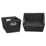 Household Essentials 2 Piece Mini Dot Tapered Bins Set; Medium