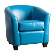 Abbyson Living Tanner Barrel Chair; Turquoise