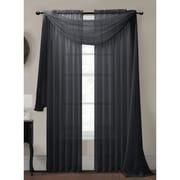 Window Elements Diamond Curtain Sheer Single Panel Scarf; Charcoal