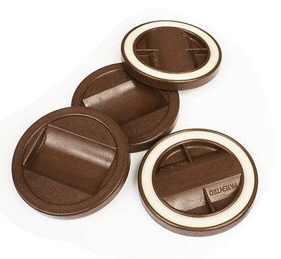 Slipstick Bed Roller/Furniture Wheel Gripper Cup Coaster (Set of 4); Chocolate WYF078277553503