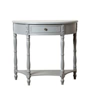 Abbyson Living San Pedro Console Table; Steel Blue
