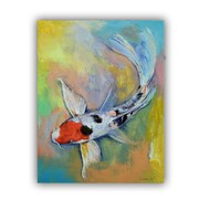 ArtWall Maruten Butterfly Koi by Michael Creese Painting Print on Canvas; 18'' H x 24'' W x 0.1'' D