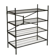 "Cosco® 4-Shelf 47.54"" Folding Instant Storage Unit, Black (66714BLK1E)"
