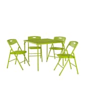 Cosco® Folding Table and Chair Set, Apple-Green, 5/Pack (37557APGE)