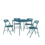 Cosco® Folding Table and Chair Set, Teal, 5/Pack (37557TEAE)