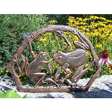 Oakland Living Frogs Hose Holder; Antique Bronze