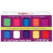 Sculpey Polymer Clay (Set of 10); Brights