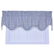 Ellis Curtain Bristol Plaid Lined 70'' Curtain Valance; Blue