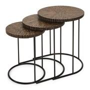 IMAX Hoki 3 Piece Coco Shell Tables Set