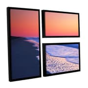 ArtWall Lavender Sea I by Steve Ainsworth 3 Piece Floater Framed Photographic Print on Canvas Set