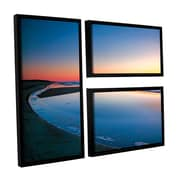 ArtWall Sea And Sand Ii by Steve Ainsworth 3 Piece Floater Framed Photographic Print on Canvas Set