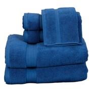 Pure Fiber Zero Twist 6 Piece Towel Set; Blue