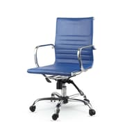 Winport Industries Mid-Back Swivel Task Chair; Blue