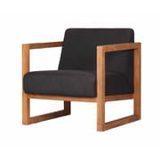 Moe's Home Collection Solid Teak and Fabric Arm Chair