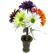 Silk Flower Depot Faux Gerbera Daisy in Ceramic Pot