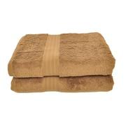 dCOR design Luxury Bath Towel (Set of 2); Cocoa Brown