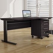 Tvilum Pierce Height Adjustable Desk Shell; Black
