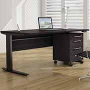 Tvilum Pierce Height Adjustable Desk Shell; Black