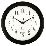 Artistic Products Ebony Time 12'' Wall Clock