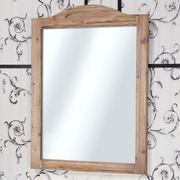 InFurniture WK Series Solid Fir Wood Framed Wall Mirror