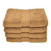 dCOR design Luxury Hand Towel (Set of 4); Cocoa Brown