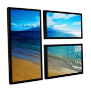 ArtWall Blue Hawaii by Kathy Yates 3 Piece Floater Framed Photographic Print on Canvas Set