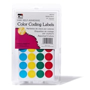 "3/4"" Color Coding Labels Assorted, 1000 labels (CHL45100)"