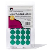 "3/4"" Color Coding Labels, Green, 1000 labels (CHL45125)"