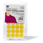 "3/4"" Color Coding Labels, Yellow, 1000 labels (CHL45140)"