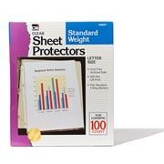"Sheet Protectors Polypropylene, Clear, 8-1/2"" x 11"", Box of 100 (CHL48241)"