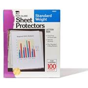 "Non-Glare Sheet Protectors, Polypropylene, Clear, 8-1/2"" x 11"", Box of 2 (CHL48281)"