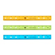 "Translucent Plastic Ruler 12"", Assorted Colors, (CHL77336)"