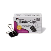 "Binder Clips, Small, 3/8"" Capacity, Black Box of 12 (CHLBC02)"