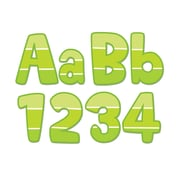"CREATIVE TEACHING PRESS 2"" x 4"" Painted Palette Paint Chip 4"" Designer Letters, Lime Green/White, (CTP0283)"