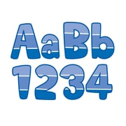 "CREATIVE TEACHING PRESS 2"" x 4"" Painted Palette Paint Chip 4"" Designer Letters, Blue/White, (CTP0285)"