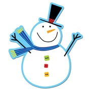 "CREATIVE TEACHING PRESS 6"" x 6"" Snowman Designer Cut-Outs, Multicolor (CTP5888)"