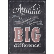 "13"" x 19"" Attitude is a little things Inspire U Poster (CTP6747)"