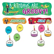 "EDUPRESS 20.5"" x 5.5"" Pete the Cat Happy Birthday Mini Bullletin Board, Multicolor (EP-3649)"