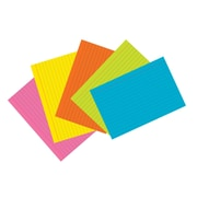 """Pacon® Index Cards, 4""""x6"""", Ruled, Super Bright Assortment, 75 cards (PAC1727)"""