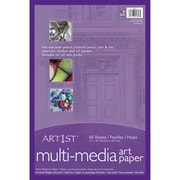 "Art1st 12"" x 18"" White, Premium Multi-Media Art Paper (PAC4843)"