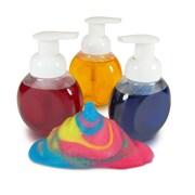 """R-54465 Clear Plastic Foam Paint Bottles, 3.5"""" x 5"""" 3/pkg"""
