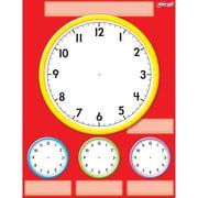 "TREND enterprises, Inc., 17"" x 22"" Clocks, Wipe-Off® Chart, Red/White/Yellow/Blue/Green, (T-27312)"