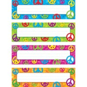 "Peace Signs Desk Toppers® Name Plates Variety Pack, 32/pkg 2.88"" x 9.5"" (T-69908)"
