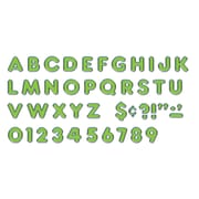 "Ready Letters 4"" Colorful Chrome, Green (T-79050)"