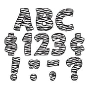 """TEACHER CREATED RESOURCES 4"""" Zebra Print Funtastic Font Letters Uppercase Pack, Black/White (TCR5375)"""