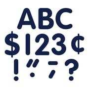 """Teacher Created Resources 4"""" Classic Font Uppercase Letters, Navy Blue, 5/Bundle (TCR5387)"""