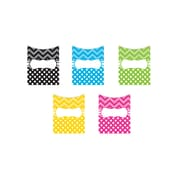 Chevrons and Dots Library Pockets Grades PreK (TCR5555)